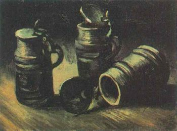 Beer Tankards | Vincent Van Gogh | oil painting