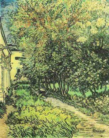 Garden of Saint-Paul Hospital | Vincent Van Gogh | oil painting