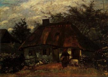 Cottage and Woman with Goat | Vincent Van Gogh | oil painting
