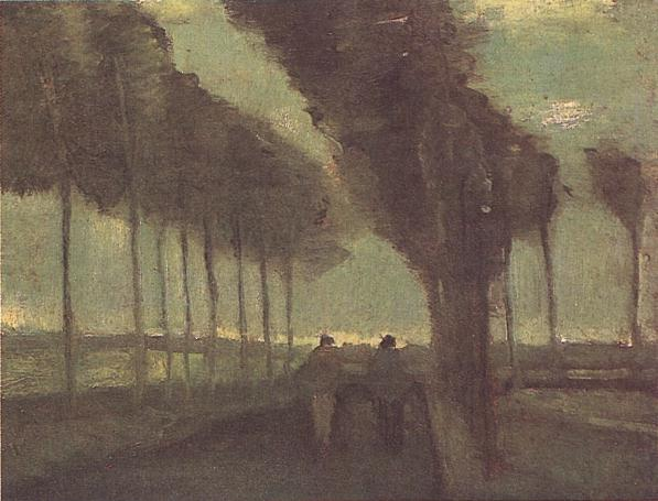 Country Lane with Two Figures   Vincent Van Gogh   oil painting