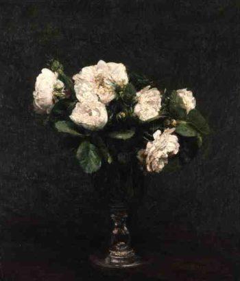 White Roses 1875 | Ignace Henri Jean Fantin Latour | oil painting