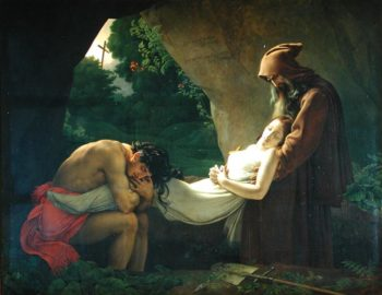 The Tomb of Atala 1808 | Anne Louis Girodet de Roucy Trioson | oil painting