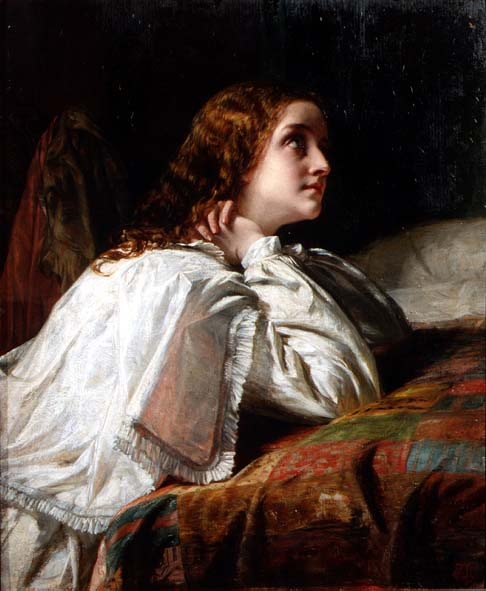 Supplication 1850 | Alfred W Elmore | oil painting