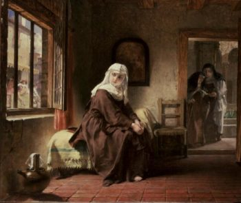 The Novice | Alfred W Elmore | oil painting