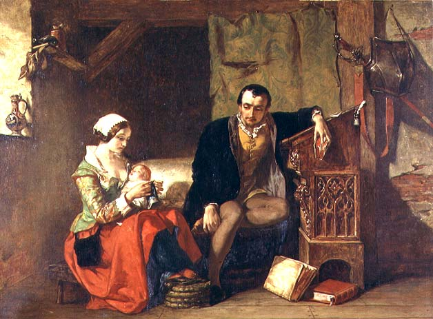 The Origin of the Stocking Loom 1847 | Alfred W Elmore | oil painting