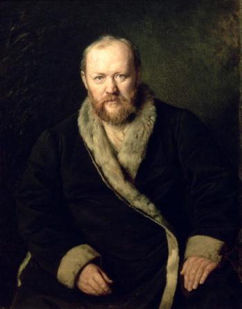 Portrait of Aleksandr Ostrovsky | Vasili Grigorevich Perov | oil painting