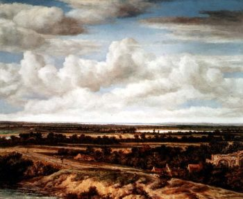 An Extensive Landscape with a Road by a River 1655 | Phillips de Koninck | oil painting
