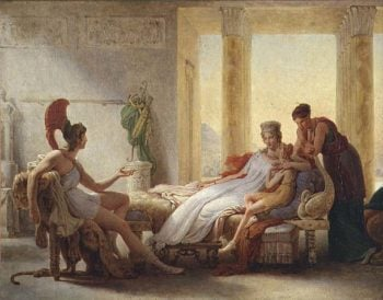 Aeneas telling Dido of the Disaster at Troy 1815 | Baron Pierre Narcisse Guerin | oil painting
