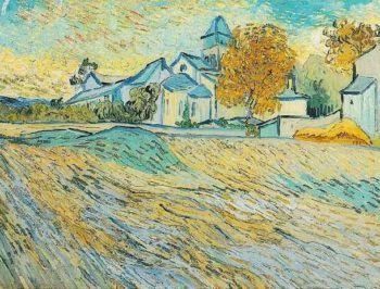 View of the Church of Saint-Paul-de-Mausole | Vincent Van Gogh | oil painting