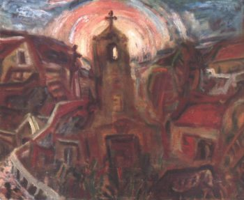 Church at Szentendre 1937 | Imre Amos | oil painting