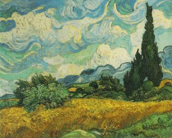Wheat Field with Cypresses at the Haute Galline Near Eygalieres | Vincent Van Gogh | oil painting
