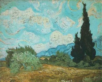 Wheat Field with Cypresses version 2 | Vincent Van Gogh | oil painting