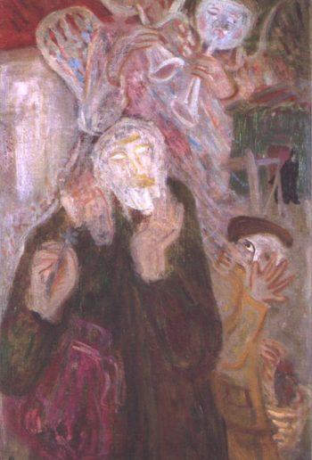 Kabbalist 1938 | Imre Amos | oil painting