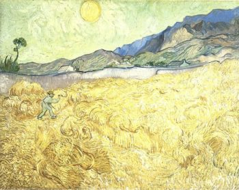 Wheat Fields with Reaper at Sunrise | Vincent Van Gogh | oil painting