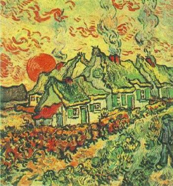Cottages Reminiscence of the North | Vincent Van Gogh | oil painting