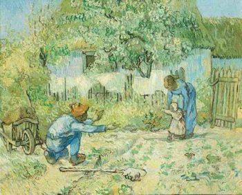First Steps (after Millet) | Vincent Van Gogh | oil painting