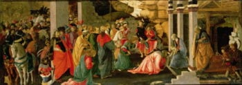 Adoration of the Magi 1470 | Sandro Botticelli | oil painting
