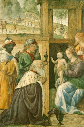 Adoration of the Magi   Bernardino Luini   oil painting