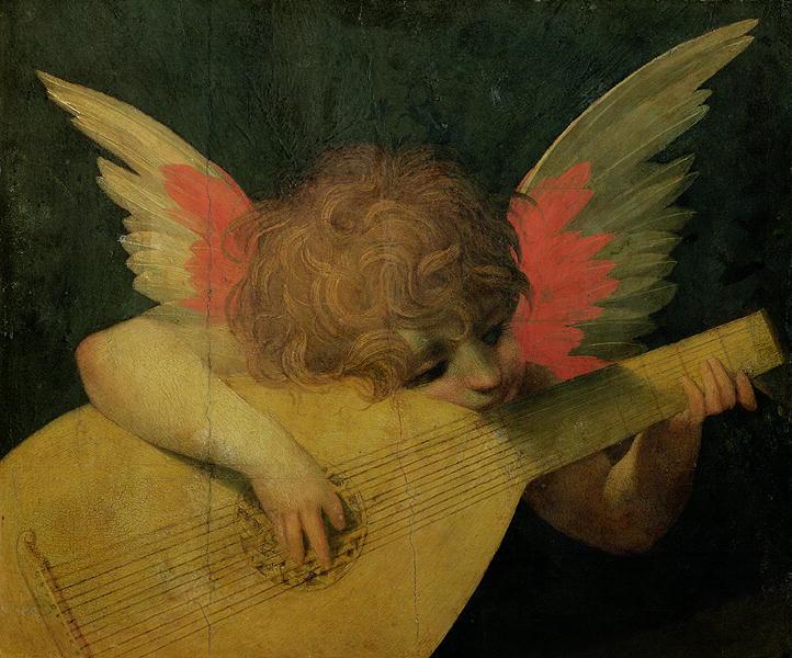 Angel Musician 1520   Giovanni Battista Rosso Fiorentino   oil painting