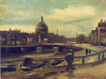 View of Amsterdam from Central Station | Vincent Van Gogh | oil painting