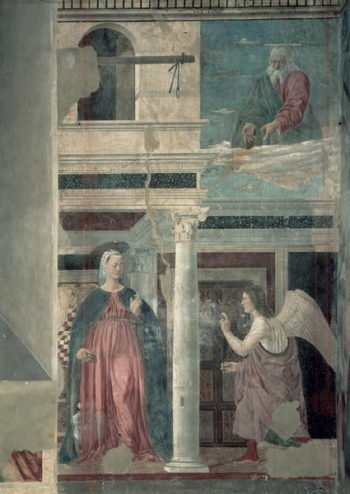 Annunciation from the True Cross Cycle completed 1464 | Piero della Francesca | oil painting