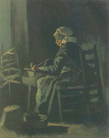 Woman Winding Yarn | Vincent Van Gogh | oil painting