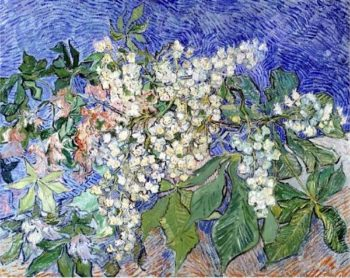 Blossoming Chestnut Branches | Vincent Van Gogh | oil painting
