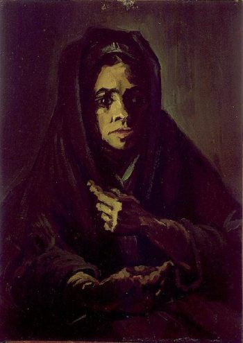Woman with a Mourning Shawl | Vincent Van Gogh | oil painting