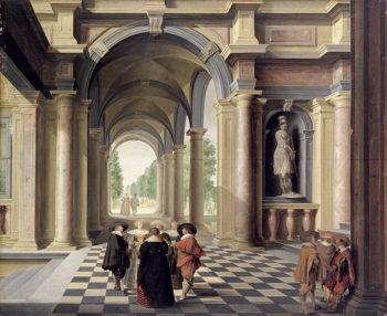 A Renaissance Hall | Dirck van Delen | oil painting