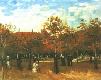 Bois de Boulogne with People Walking | Vincent Van Gogh | oil painting