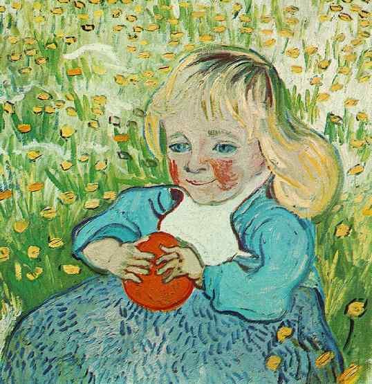 Child with Orange | Vincent Van Gogh | oil painting