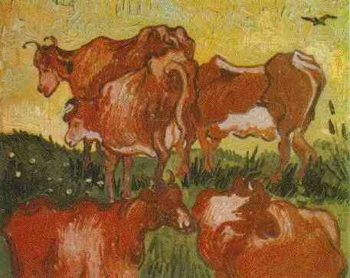 Cows (after Jordaens) | Vincent Van Gogh | oil painting