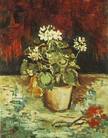 Geranium in a Flowerpot | Vincent Van Gogh | oil painting