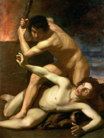 Cain murdering Abel 1610 | Bartolomeo Manfredi | oil painting