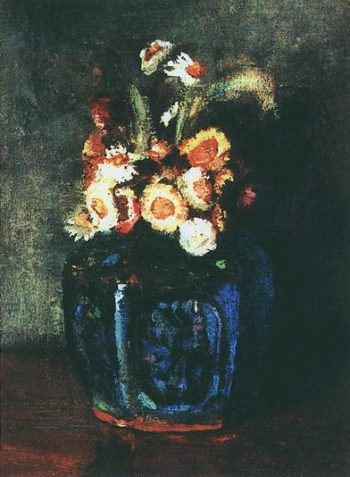 Ginger Jar Filled with Chrysanthemums | Vincent Van Gogh | oil painting