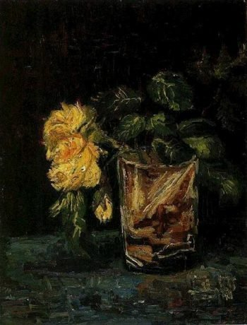 Glass with Roses | Vincent Van Gogh | oil painting