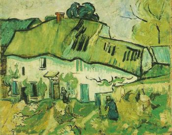 Farmhouse with Two Figures | Vincent Van Gogh | oil painting