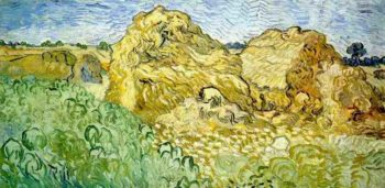 Field with Wheat Stacks | Vincent Van Gogh | oil painting