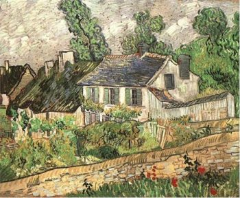 Houses in Auvers version 2 | Vincent Van Gogh | oil painting