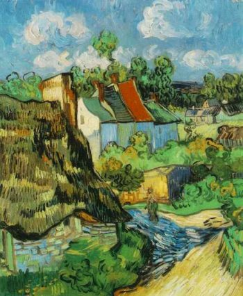 Houses in Auvers | Vincent Van Gogh | oil painting