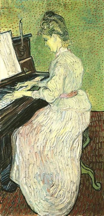 Marguerite Gachet at the Piano | Vincent Van Gogh | oil painting