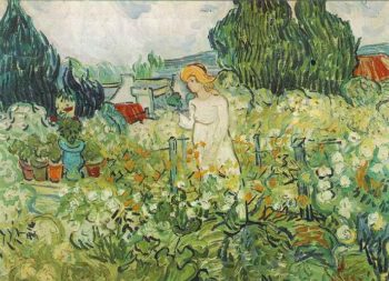 Marguerite Gachet in the Garden | Vincent Van Gogh | oil painting
