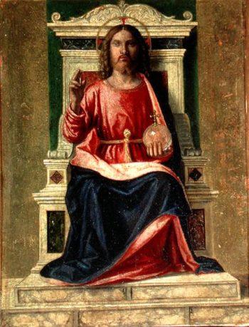 Christ Enthroned 1505   Giovanni Battista Cima da Conegliano   oil painting
