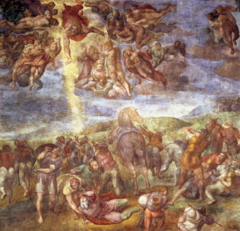 Conversion of St Paul   Michelangelo Buonarroti   oil painting