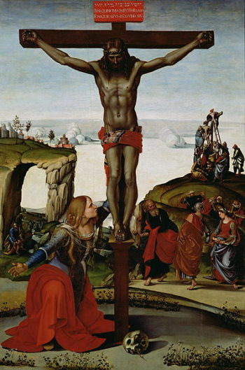 Crucifixion with Mary Magdalene 1505 | Luca Signorelli | oil painting