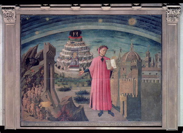 Dante and his poem the 'Divine Comedy' 1465 | Domenico di Michelino | oil painting