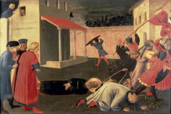 Detail from the Linaiuoli Triptych predella showing the Martyrdom of St Mark 1433 | Fra Angelico | oil painting