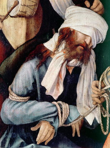 Detail of the Mocking of Christ | Matthias Grunewald | oil painting