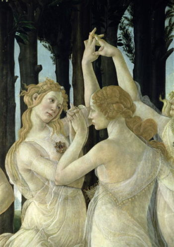 Detail of two of the Three Graces from the Primavera | Sandro Botticelli | oil painting