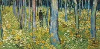 Undergrowth with Two Figures | Vincent Van Gogh | oil painting